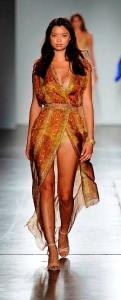 Python Silk Chiffon Dress