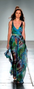 Blue Jungle Silk Chiffon Jumpsuit