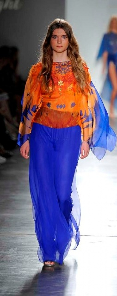 Sunset Silk Chiffon Top & Pants