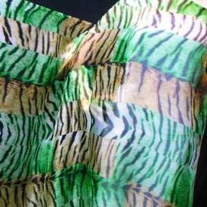 Green Tiger Chiffon 100% Silk Fabric